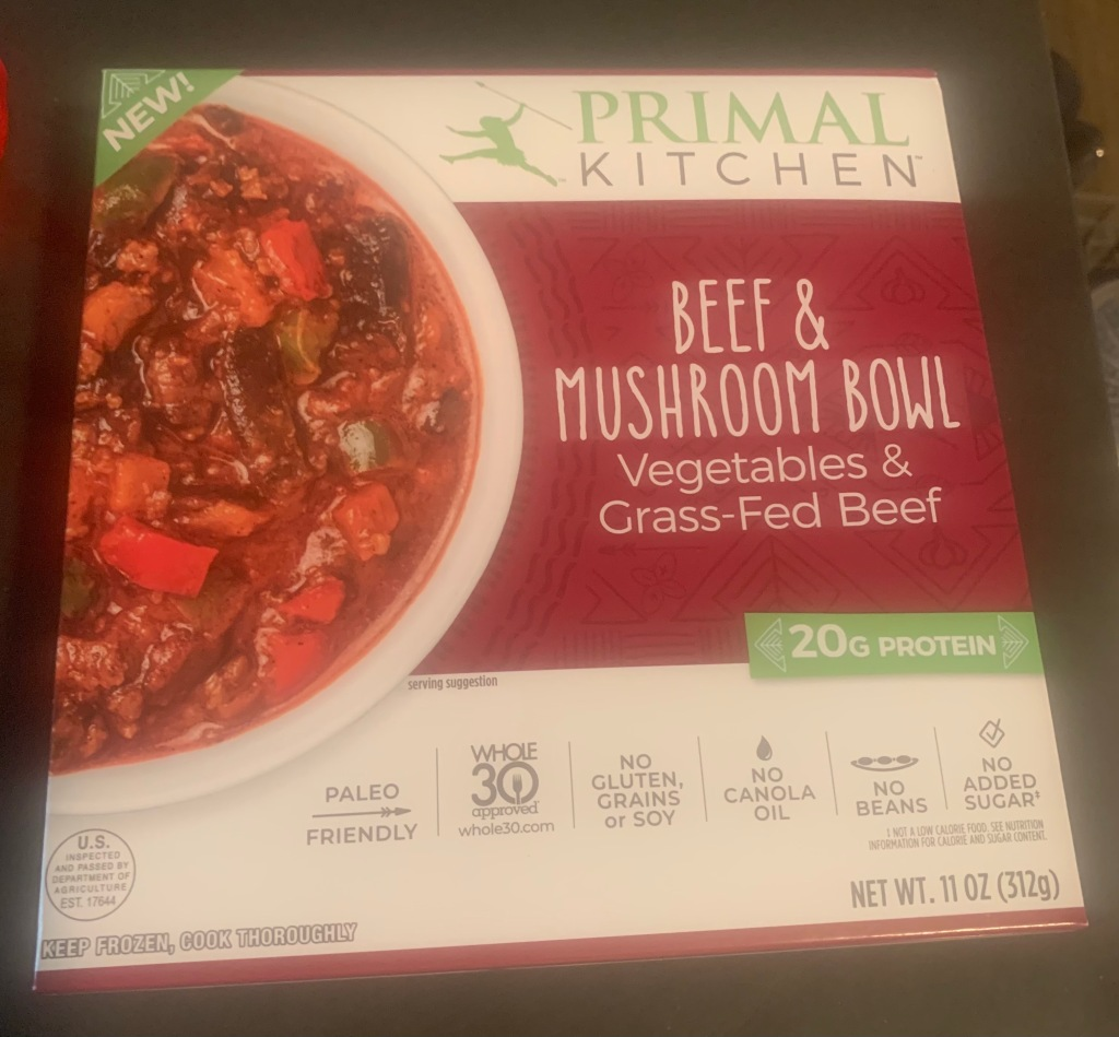 Primal Kitchen Beef & Mushroom Bowl package